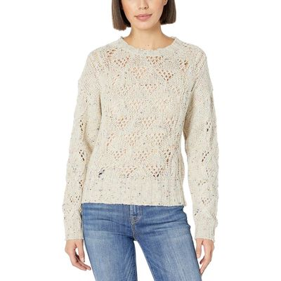 Lucky Brand - Lucky Brand Natural Multi Donegal Pullover Sweater