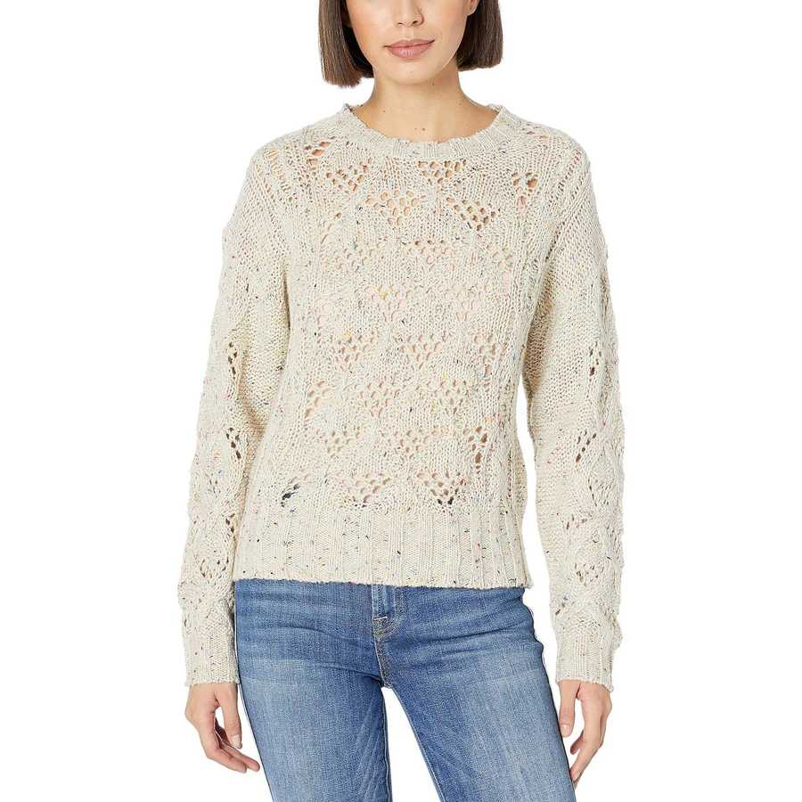 Lucky Brand Natural Multi Donegal Pullover Sweater