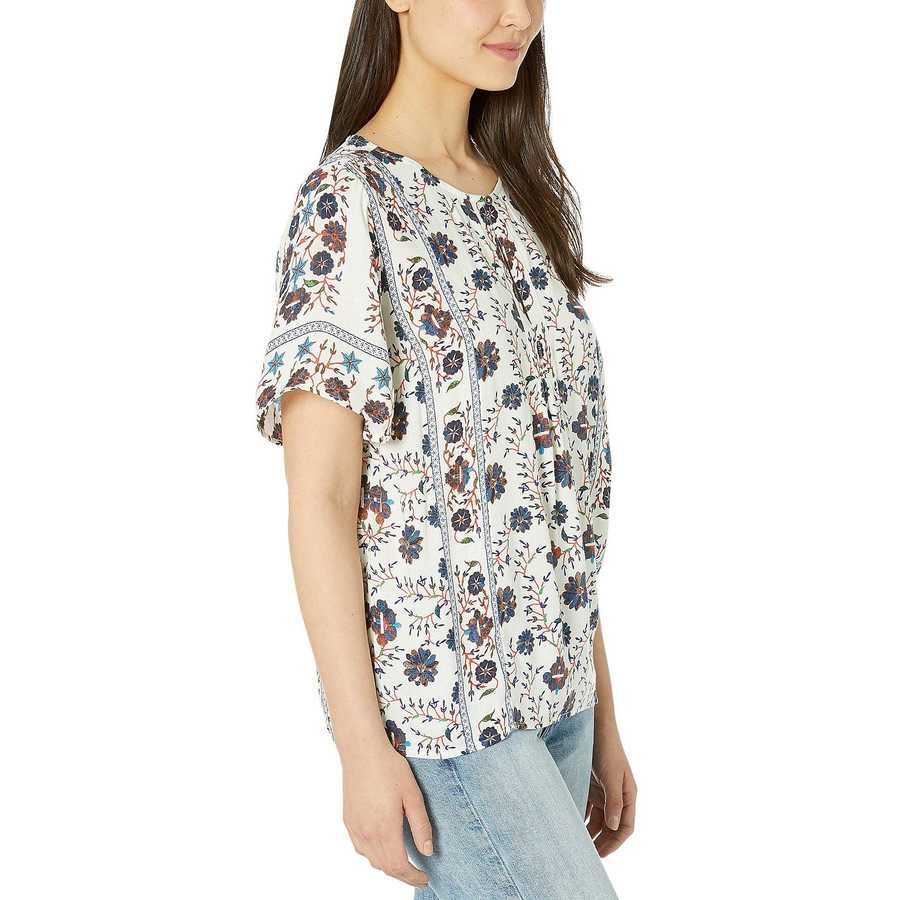 Lucky Brand Natural Multi Peasant Top