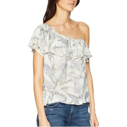 Lucky Brand Natural Multi Tropical One Shoulder Top - Thumbnail