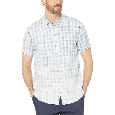 Lucky Brand - Lucky Brand Natural/Blue Short Sleeve Shirt
