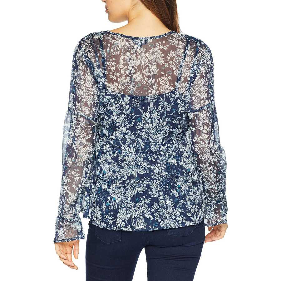Lucky Brand Navy Multi Printed Top