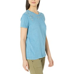 Lucky Brand Niagra Embroidered Tee - Thumbnail