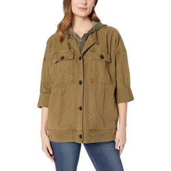 Lucky Brand Olive Hooded Utility Jacket - Thumbnail