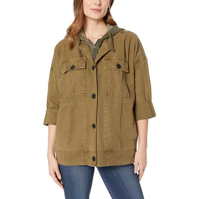 Lucky Brand - Lucky Brand Olive Hooded Utility Jacket