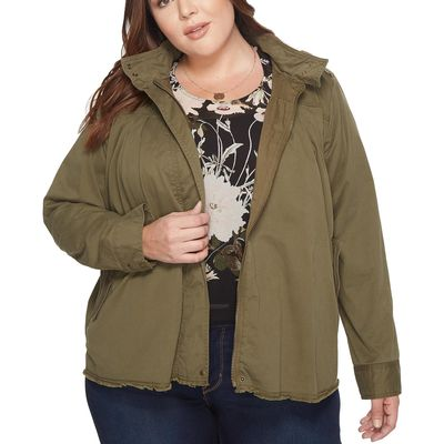 Lucky Brand - Lucky Brand Olive Night Plus Size Military Jacket