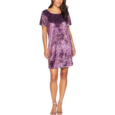 Lucky Brand - Lucky Brand Purple Multi Velvet Tee Dress Plus