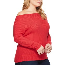 Lucky Brand Red Plus Size Thermal Top - Thumbnail
