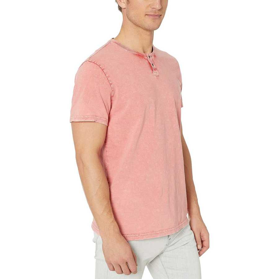 Lucky Brand Red Snap Notch Tee