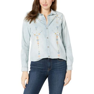 Lucky Brand - Lucky Brand Saddle Hill Embroidered Boyfriend Shirt