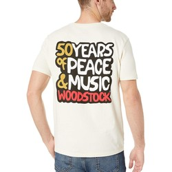 Lucky Brand Silver Birch Woodstock Poster Tee - Thumbnail