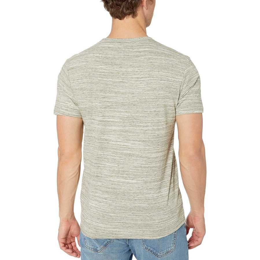 Lucky Brand Space Dye Olive Henley Space Dye Tee