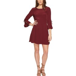 Lucky Brand Tawny Port Bell Sleeve Dress - Thumbnail
