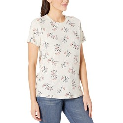 Lucky Brand White Multi All Over Floral Tee - Thumbnail