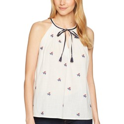 Lucky Brand White Multi Americana Tank Top - Thumbnail