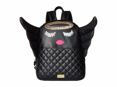 Luv Betsey - Luv Betsey Black Angle Kitch Backpack