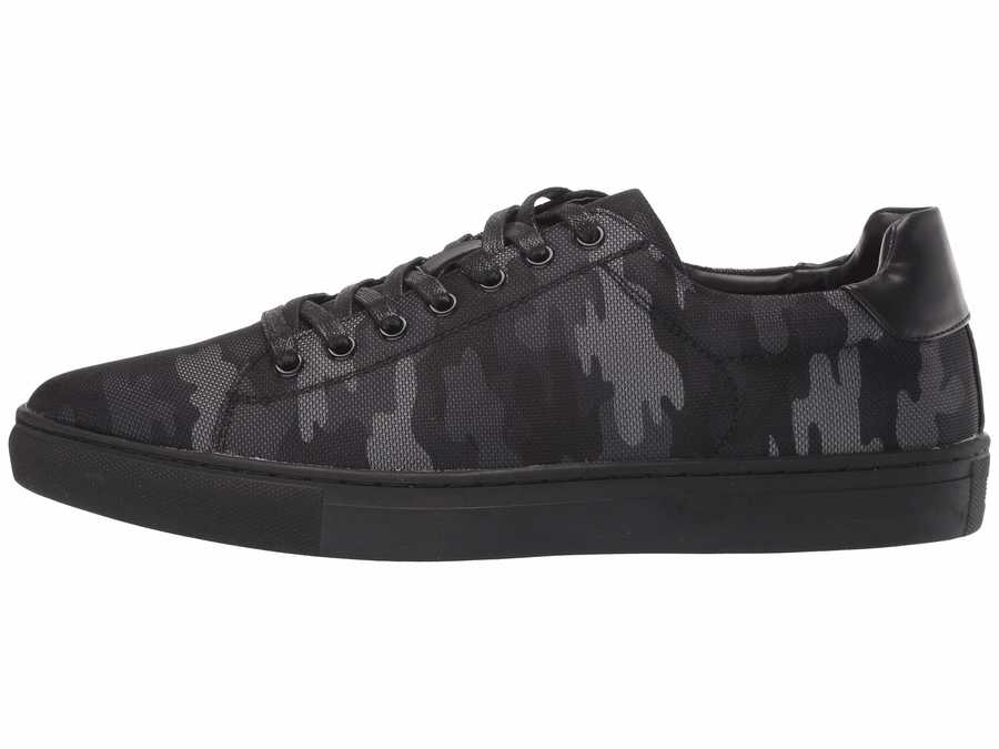 Madden By Steve Madden Men Black Canvas Pilote Lifestyle Sneakers