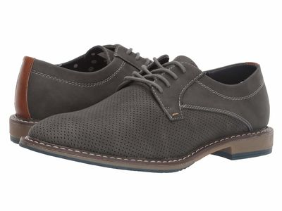 Madden By Steve Madden - Madden By Steve Madden Men Grey Nubuck Sarron Oxfords