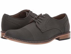 Madden By Steve Madden Men Grey Suede Pu Amit 6 Oxfords - Thumbnail
