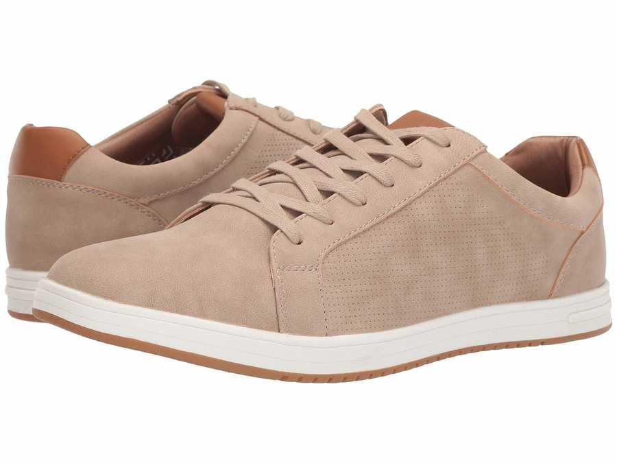 Madden By Steve Madden Men Taupe Nubuck Blixin Lifestyle Sneakers