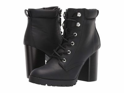 Madden Girl - Madden Girl Women Black Leonn Lace Up Boots