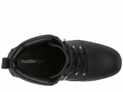 Madden Girl Women Black Leonn Lace Up Boots - Thumbnail