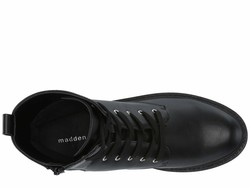 Madden Girl Women Black Paris Aleenna Lace Up Boots - Thumbnail