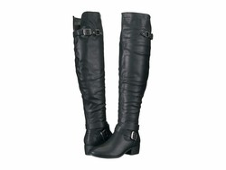 Madden Girl Women Black Paris Divnee Over The Knee Boots - Thumbnail