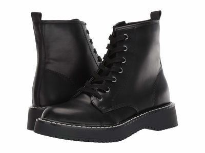 Madden Girl - Madden Girl Women Black Paris Kourtney Lace Up Boots