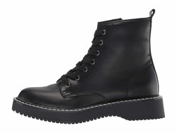 Madden Girl Women Black Paris Kourtney Lace Up Boots - Thumbnail