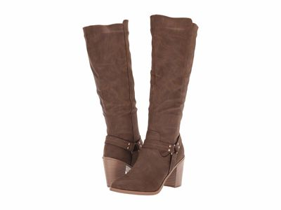 Madden Girl - Madden Girl Women Brown Paris Defyantt Knee High Boots