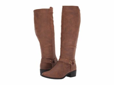 Madden Girl - Madden Girl Women Cognac Paris Dahliia Knee High Boots