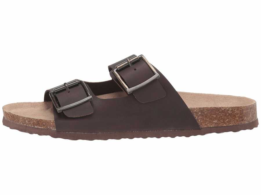 Madden Girl Women Dark Brown Pleaase Flat Sandals