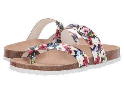 Madden Girl - Madden Girl Women Floral Multi Paamy Flat Sandals
