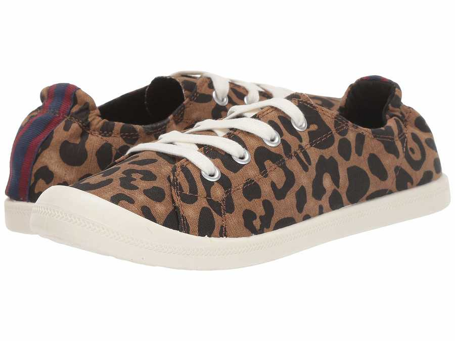 Madden Girl Women Tan Leopard Canvas Barby Lifestyle Sneakers
