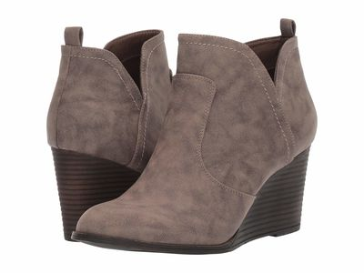 Madden Girl - Madden Girl Women Taupe Paris Gallore Ankle Bootsbooties