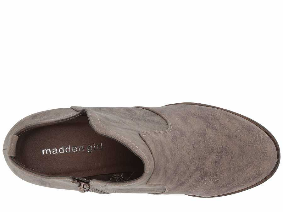 Madden Girl Women Taupe Paris Gallore Ankle Bootsbooties