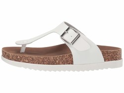 Madden Girl Women White Gemm Flat Sandals - Thumbnail