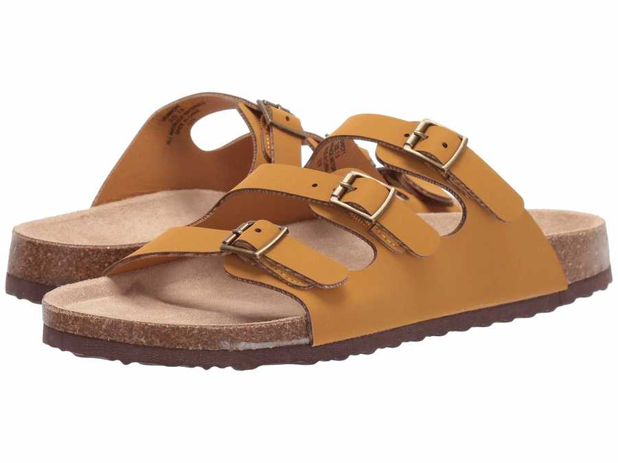 Madden Girl Women Yellow Nubuck Perrcyy Flat Sandals