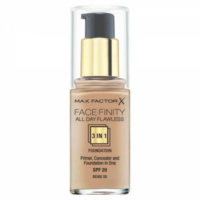 Max Factor - Max Factor Facefinity All Day Flawless 3 In 1 Foundation SPF 20 - 55 Beige 30 ml