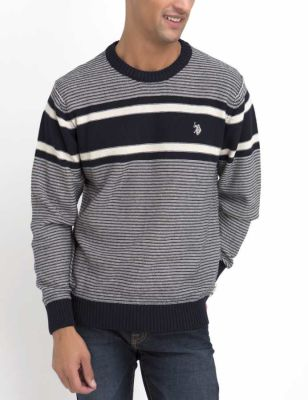 U.S. Polo Assn. - Men Classic Navy Crew Neck Sweater