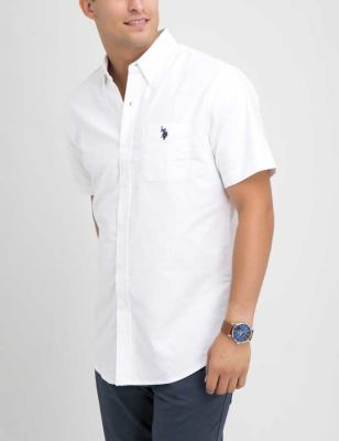 U.S. Polo Assn. - Men Optic White Stretch Oxford Shirt