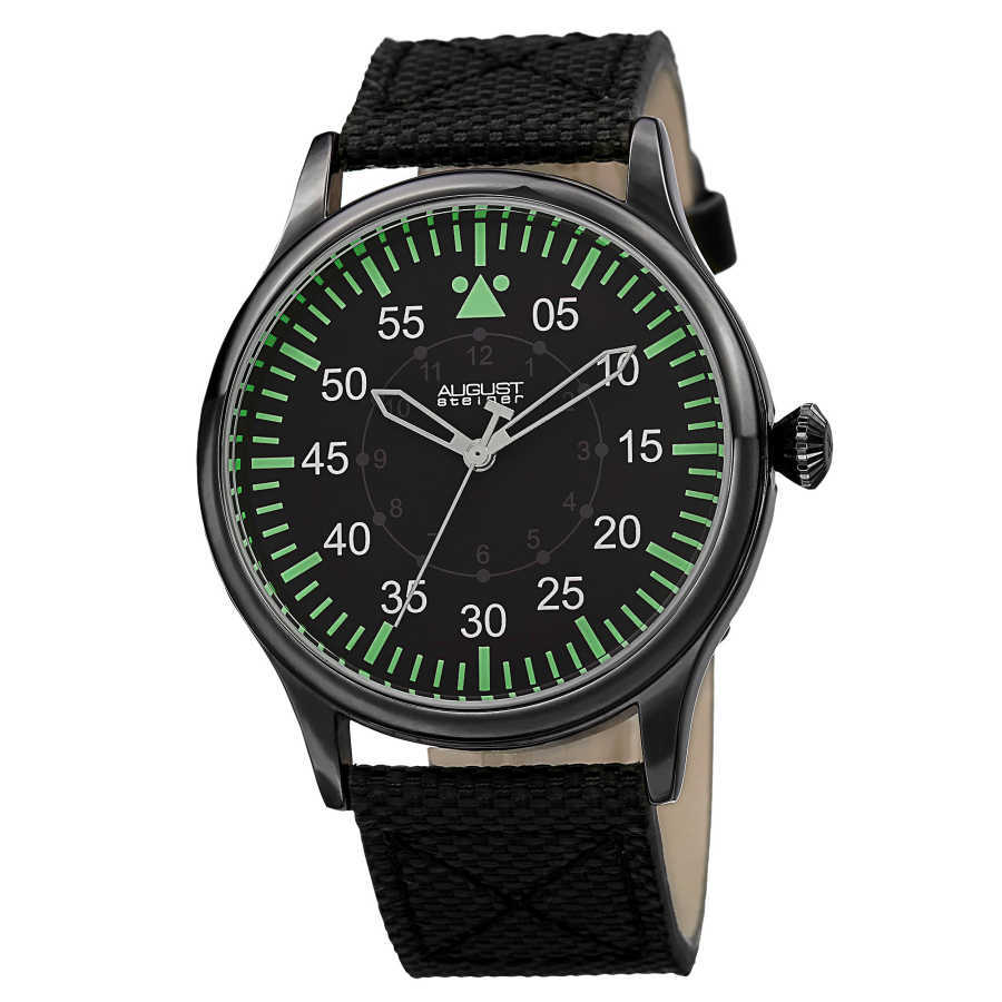 Men's Quartz Canvas Strap Watch AS8125BK