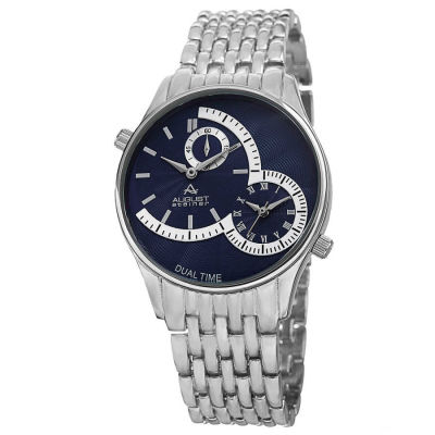 August Steiner - Men's Quartz Dual Time Bracelet Watch AS8141BU