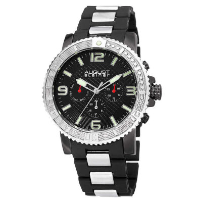 August Steiner - Men's Quartz Dual Time Bracelet Watch AS8179SSB
