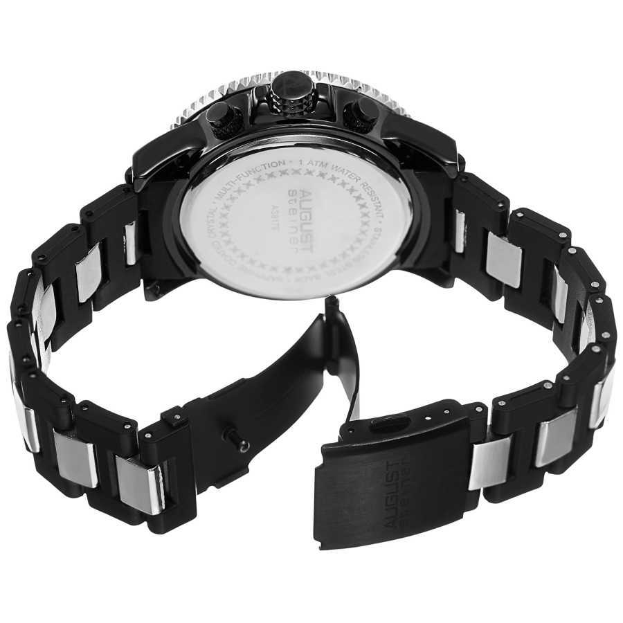 Men's Quartz Dual Time Bracelet Watch AS8179SSB