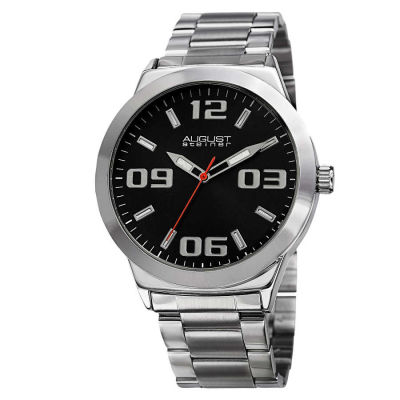 August Steiner - Men's Quartz Stainless Steel Bracelet Watch AS8134SSB