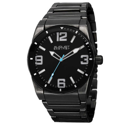 August Steiner - Men's Swiss Quartz Luminous Bracelet Watch AS8152BK