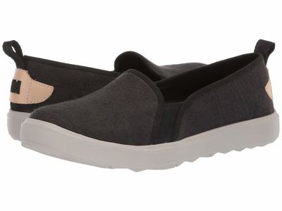 Merrell - Merrell Women Black Around Town Ada Moc Canvas Lifestyle Sneakers