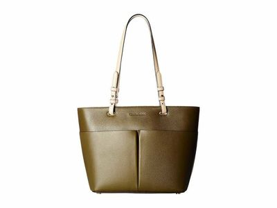 Michael Kors - Michael Michael Kors Olive Bedford Medium Top Zip Pocket Tote Handbag